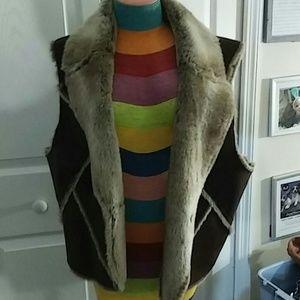 Faux fur brown vest